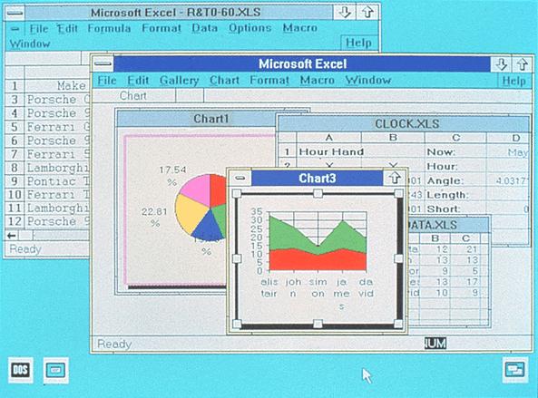 Microsoft Excel 2.0, primera versión para Windows