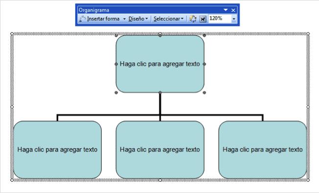 barra de organigramas de Word