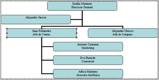 organigrama tercera fase