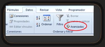 Filtro, Avanzadas