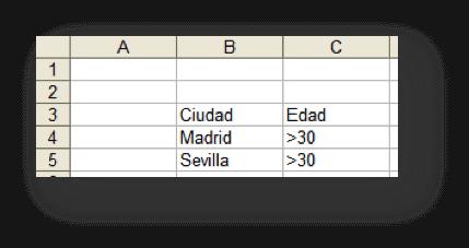 Rango de criterios  con AND y OR