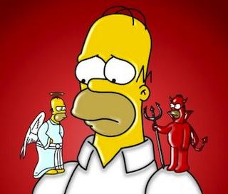 Bart Simpson angel vs diablo