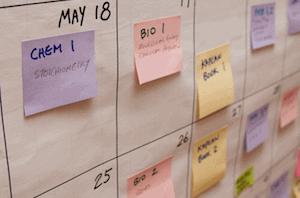 Calendario de estudio