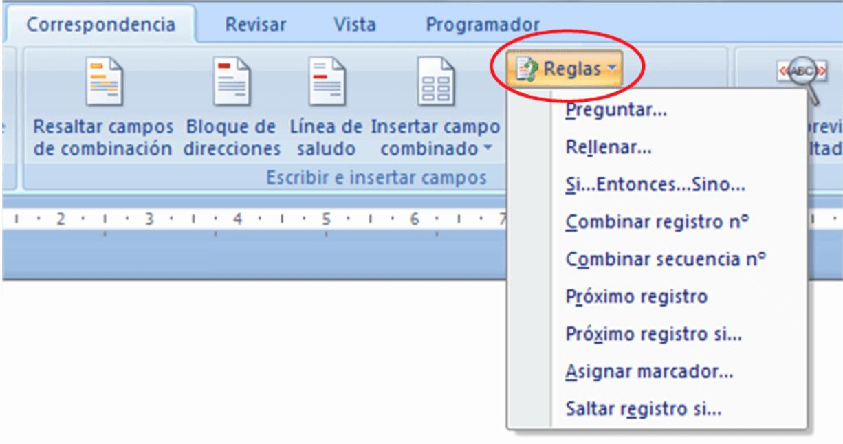 """Utilizar """"Reglas"""" para mejorar la combinación de correspondencia en ..."""