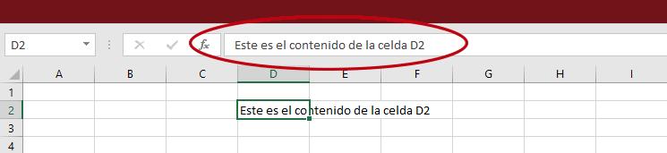 Barra de Fórmulas Excel