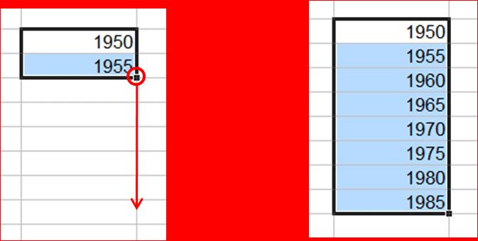 Series numéricas en Excel