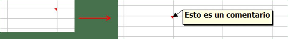 Comentarios en Excel