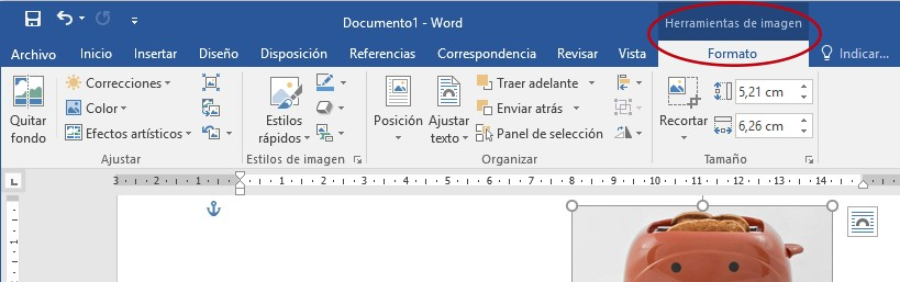 ficha formato en word